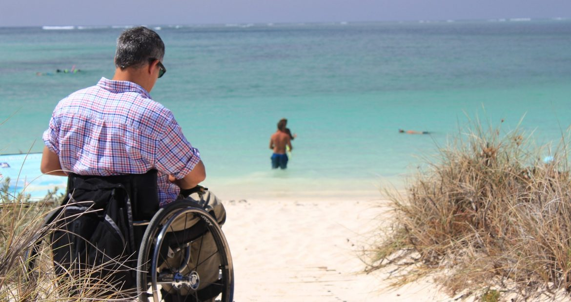 Man in wheelchair - quadriplegia